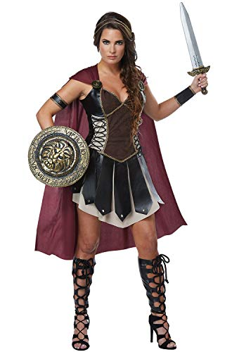 California Costumes Women's Glorious Gladiator Adult Woman Costume, Black/Burgundy, Extra Large -