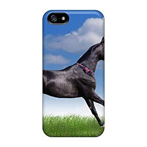 High Grade JoinUs Flexible Tpu Case For Iphone 5/5s - Animals Horses Graceful Horse