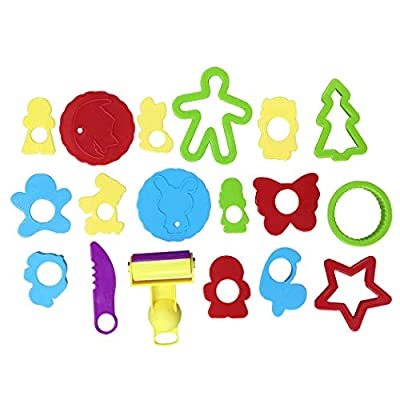 Dough Tool,Coxeer 18PCS Dough Mold Toy Educational Fashion Creative Clay Play Tool Clay Dough Tool for DIY Toy: Kitchen & Dining