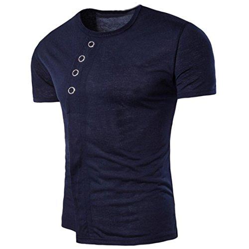 para Asimétrica manga camiseta sólido hombre Camiseta OverDose Marino verano corta 1dp7qxw