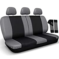 Motorup America Auto Bench Seat Cover Full Set - Mesh Covers Fits Select Vehicles Car Truck Van SUV- Solid Beige