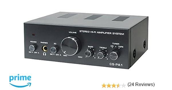 Dynavox CS-PA1 - Amplificador de audio (2.0, 50 W, 20-30000 Hz ...