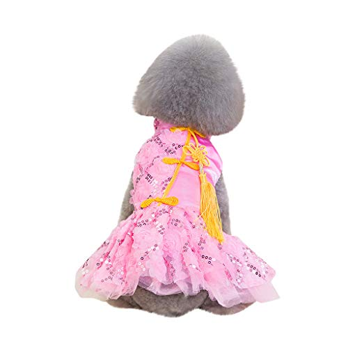 khdug❤ Pet Dog & Cat Shirt, Fashion pet Clothing Spring and Summer Breathable Simple New lace Skirt ()