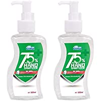 75% Alcohol hand sanitiser 2 big bottles of 500ML Antibacterial Kills 99.99% Germs