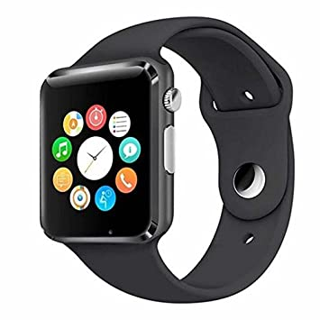 Apple iPhone X Compatible Bluetooth Smart Watch / Wrist Watch with Sim Card Support for High Quality Calling, Facebook and WhatsApp, Touch Screen, Multilanguage, Activity Trackers, Fitness Band Features, Video Recording, Phone Book, Smartwatch Phone with Camera TF SIM Card Slot, Compatible with 2G 3G 4G Android Mobile Phones & IOS Samsung Vivo Sony Gionee Xiaomi Redmi MI Lenevo Motorola Oppo HTC Google Micromax Intex by Sontiga