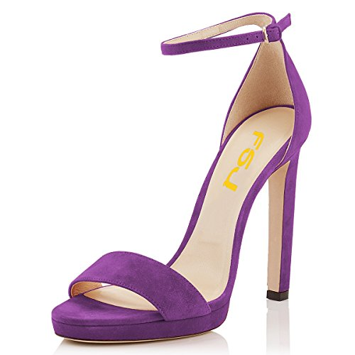 High 4 Stiletto FSJ Size Dress Purple Pumps 15 Sandals Platform US Toe Open Heels Women Sexy Shoes qXxSYFX