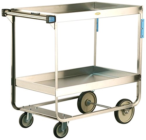 Lakeside 727 Heavy Duty Deep Shelf Stainless Steel Utility Cart, 2 Shelves, 700 lb. Capacity, 22-1/4'' x 38'' x 37-1/4'' by Lakeside Manufacturing