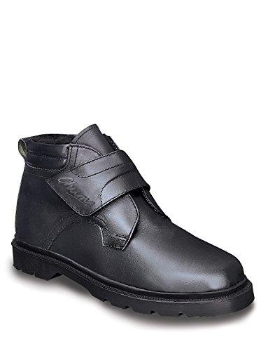Boots Di Foderato Fissaggio Reale Uomini Black Degli Tocco Cuoio Caldo qn6w7xRBf