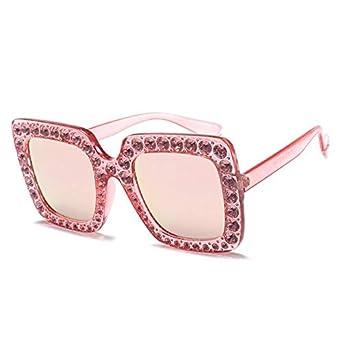 cb991ab865aa Bharat Ventures c8 pink mirror, Multi: HBK Luxury Italian Brand Oversized  Sun Glass Square Sunglasses Women Retro: Amazon.in: Clothing & Accessories