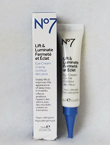 Boots No7 Lift and Luminate Eye Cream, 0.5 oz/15 ml