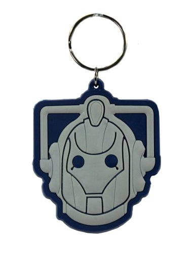 Cyberman Costumes Doctor Who (Official Doctor Who Cyberman Rubber Keyring)