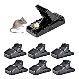 HARCCI Effective Rat Trap - Set of 6 - Ultimate Pest Control for Gophers, Voles, Mice and Rats at Home, Office or Garage - No Poison or Dangerous Fluids for Human Safety | Easy to Use and to Clean