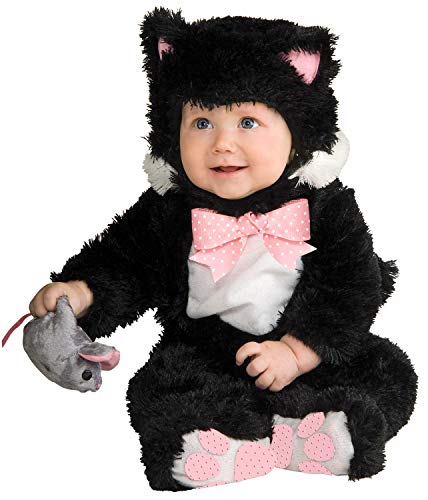 Rubie's Baby Inky Black Kitty Costume Jumpsuit, 12-18 Months, Multi-colored