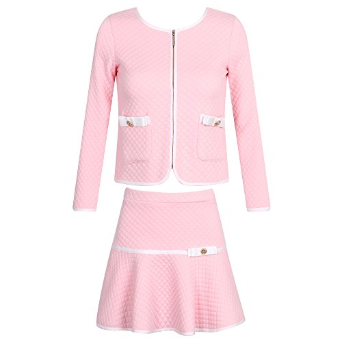 Jfk And Jackie Kennedy Halloween Costumes - Richie House Girls' Elegant Knit Suit