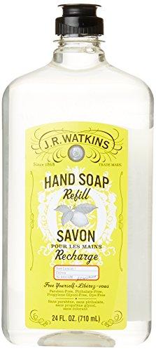 J.R. Watkins Natural Liquid Hand Soap, Lemon, 24 Ounce Refill