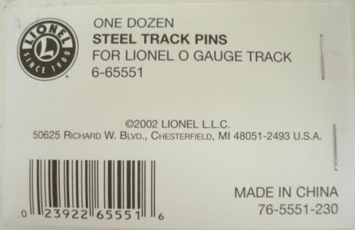 LiONEL 0 GAUGE STEEL TRACK PINS train connector section, used for sale  Delivered anywhere in USA