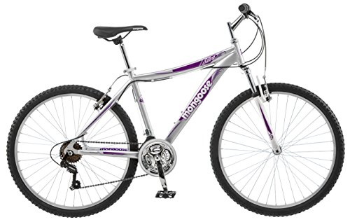 "Mongoose Women's Silva Mountain Bicycle 26"" Wheel, 16""/Small Frame Size"