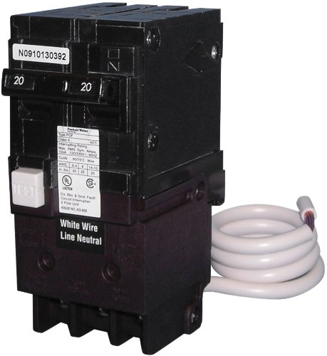 Pentair PA220GF 2-Pole GFCI Circuit Breakers, 20-Ampere
