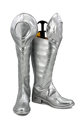Veribuy Halloween Men Hero Cosplay Shoes Guardian Costume Silvery Cosplay -