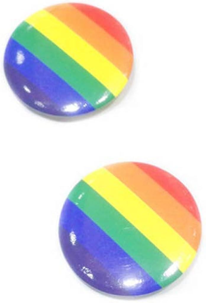 GUANGSHAN 10Pcs Brooch Rainbow Love Flag Friendship Brooch Pin Badge Gay /& Lesbian Jewelry Gift
