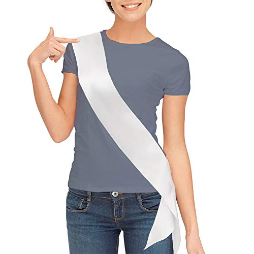 Rodeo Queen Costume (Blank Satin Sash, Plain Sash, Party Decorations, Make Your Own Sash)