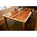 Square Farm Dining Table Legs in Knotty Pine Wood (Set of 4)