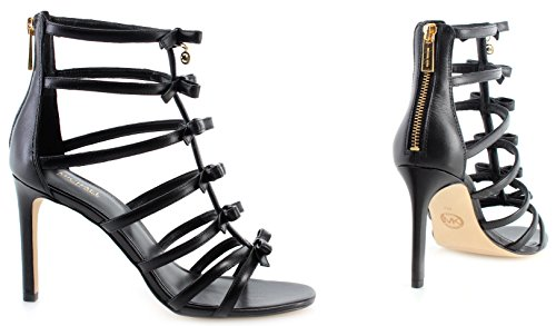 Sandal Michael Mujeres Kors Veronica Tacon De Zapatos 40S8VRHA1L Leather Black rrIYf