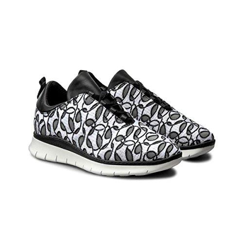 Pinko Quarzo Sneaker Rete Ricamata + Pelle