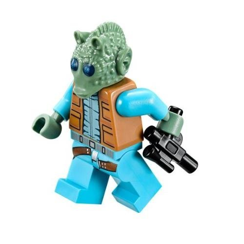 LEGO Star Wars Minifigure Bounty Hunter Greedo with blaster gun (75052) (Star Wars Legos 75046)