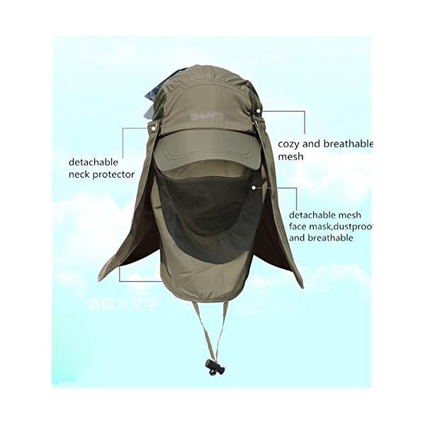 TSHOME Protezione Solare da Esterno a 360 ° Cappuccio per Cappello da Sole con Protezione per Il Collo e Coperchio per… 3 spesavip