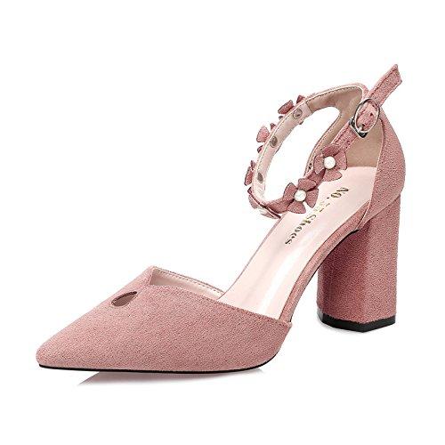 Xing Lin Zapatos De Verano Para Las Mujeres Cuñas Punta Gruesa Y Con Los Zapatos De Tacón Alto Piso Con Trabajo Nocturno Tienda Carrera Sandalias Zapatos Zapatos De Mujer Pink