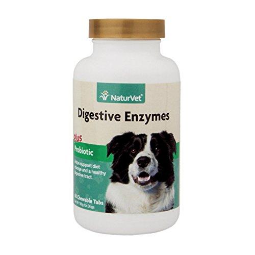 NaturVet Digestive Enzymes with Probiotics -- 60 Chewable Tablets by NaturVet