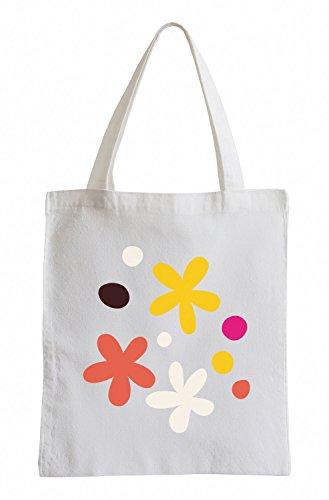Raxxpurl Piccolo scuro Floral Fun sacchetto di iuta
