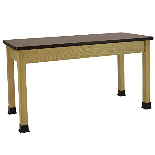 Allied Plastic Table - Economy Student Table, Chemical-Resistant Laminate Top, Book Compartments, 72 x 24 x 30