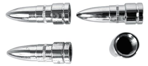 Custom Accessories 16218 Chrome Bullet Style Valve Cap -