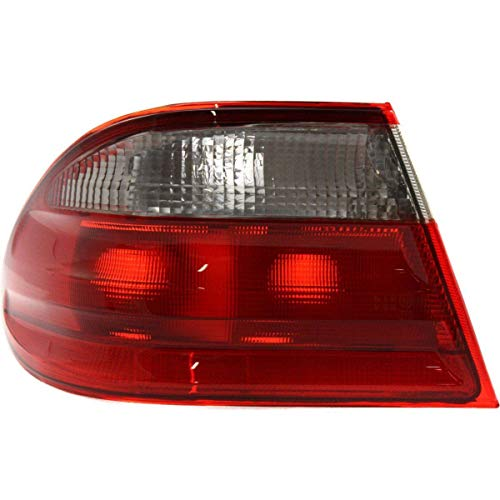 (New Left Driver Side Outer Tail Lamp For 2000-2002 Mercedes-Benz E-Class Lens & Housing, Red & Clear, Elegance Package, Sedan, Classic MB2800107 2108203564)