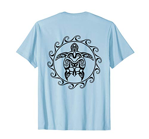 (Tribal Polynesian Maori Sun Sea Turtle T-Shirt)