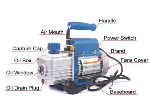 ELEOPTION 220V Rotary Vane Air Vacuum Pump Tool for Film Laminating Machine
