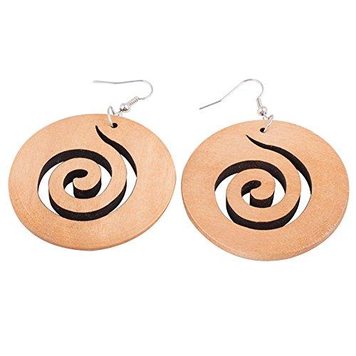 African Wooden Earrings for Women EVBEA Big Statement