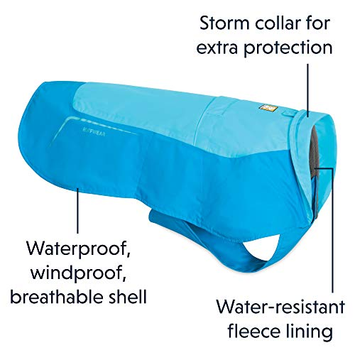 RUFFWEAR - Vert Waterproof Fleece Jacket for Dogs, Blue Atoll, Medium	 by RUFFWEAR (Image #3)