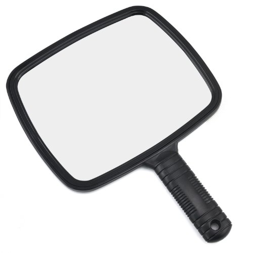 TRIXES Professional Handheld Salon Barbers Hairdressers Mirror with Handle ()