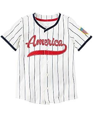 Carter's Baby Boys' Americana Baseball Tee