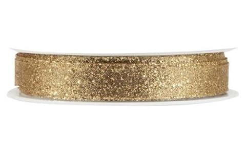 The Gift Wrap Company 3/8-Inch Razzle Dazzle Banding Ribbon, Gold (19046-09) (Razzle Dazzle Glitter)