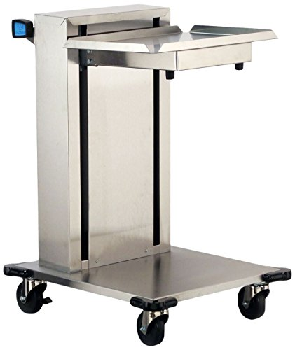 Lakeside 820 Mobile Cantilever Single Platform Tray Dispenser, Stainless Steel, Open on 3 Sides, Accommodates Trays 20 x 20-inches, NSF Listed, Overall Size 23-1/2 x 31-1/2 x 36-1/2-inches