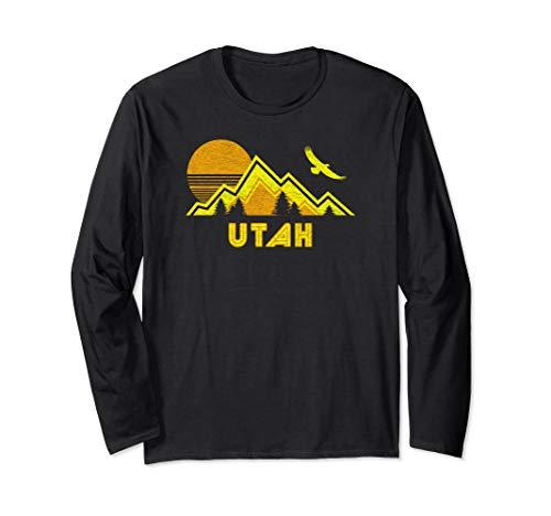 Retro Shirt Home Ls - Retro Utah Home Shirt Long Sleeve Gift Tee