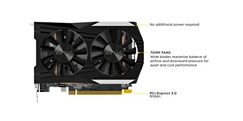 ZOTAC GeForce GTX 1050 Ti OC Edition 4GB GDDR5 Super Compact Gaming Graphics Card (ZT-P10510B-10L) by ZOTAC (Image #2)