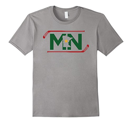 Mens Mn The State Of Hockey T Shirt Unisex Adult And Kids Xl Slate