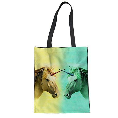 Handbag Tote Beach Unicorn Shopping Unicorn Travel Girls CuMagical for 1 Women Canvas Bag AvSHE0