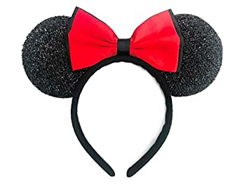 Disney Minnie Mouse Ears Headband with Red Bow Party Cosplay Kid/'s Gift