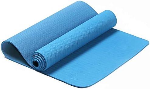 Eco friendly 健康とフィットネスTPEコンフォートフォームヨガマット運動、ヨガピラティス exercise (色 : Blue)